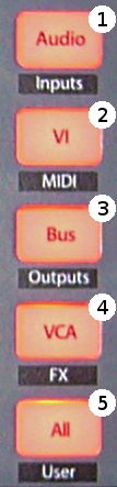 FaderPort8 Mix Management Buttons