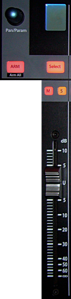 The FaderPort8 Channel Strip