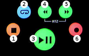 FaderPort8 Transport Buttons