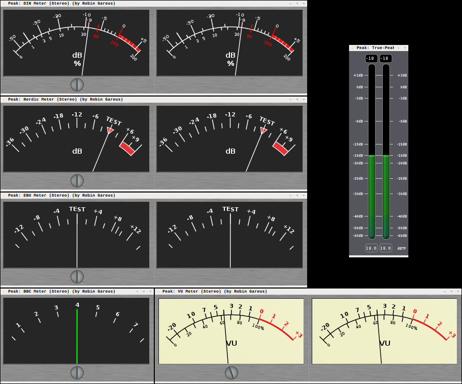 Needle-style meters as external LV2 plugins